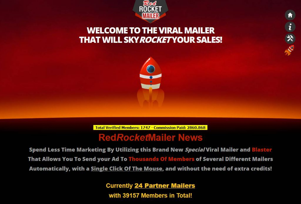 RedRocketMailer -Viral Mailer for Email Marketing