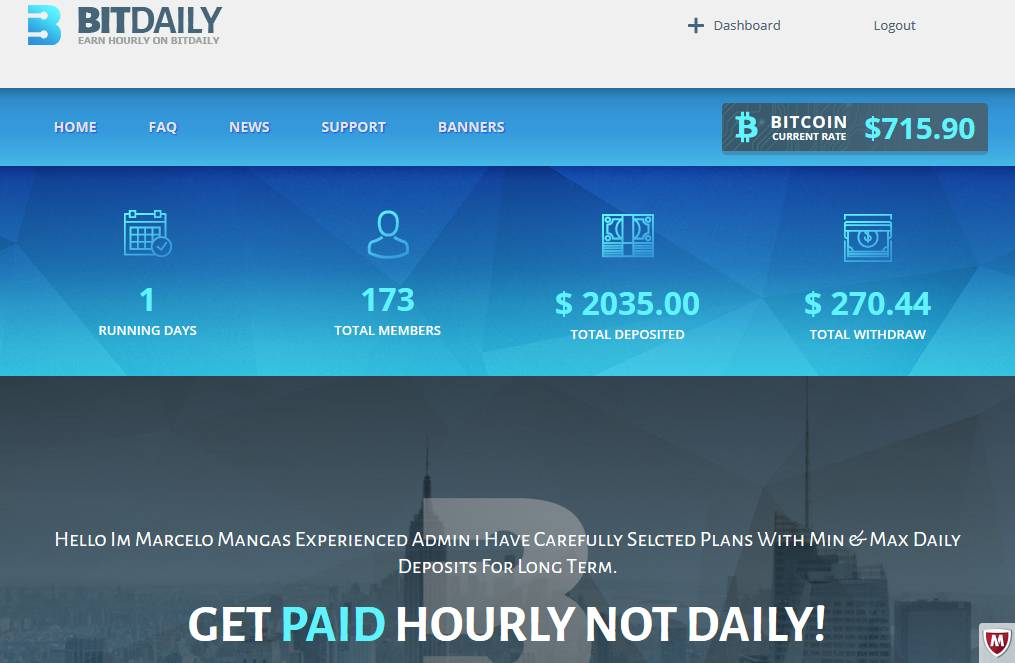 bitdaily get paid hourly
