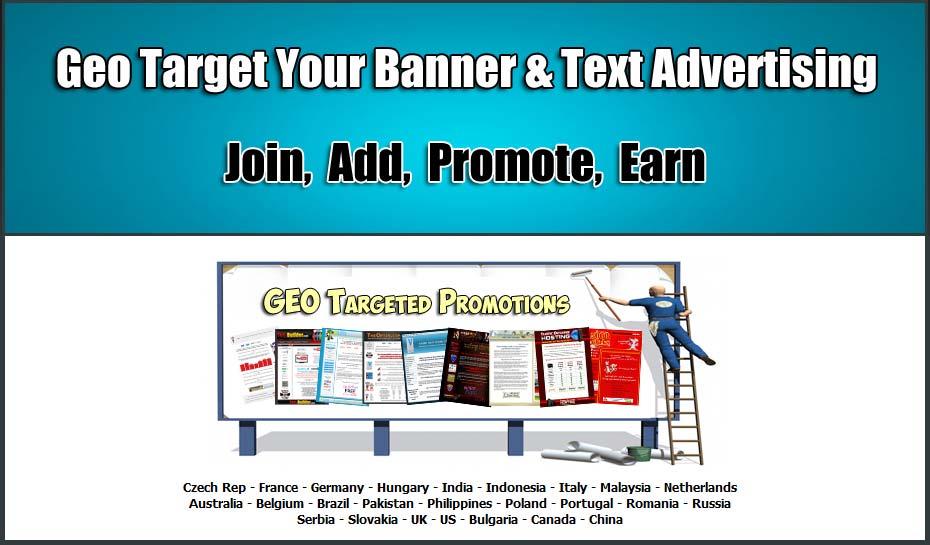 Geotargeting Bannerwerbung Textwerbung